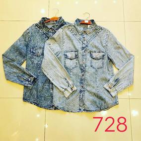 Roupas Femininas Importadas Camisa Jeans 728#