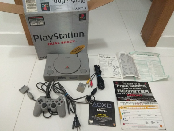 Playstation 1 Fat Dual Shock Completo Caixa Manual Original