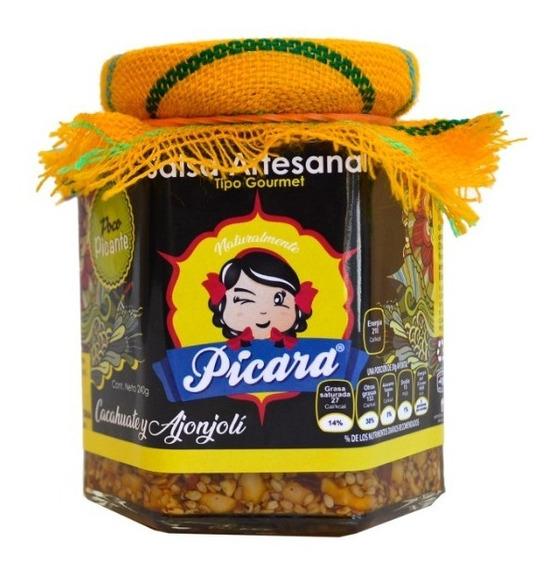 Salsa Gourmet Artesanal Cacahuate Y Ajonjolí Poco Picante