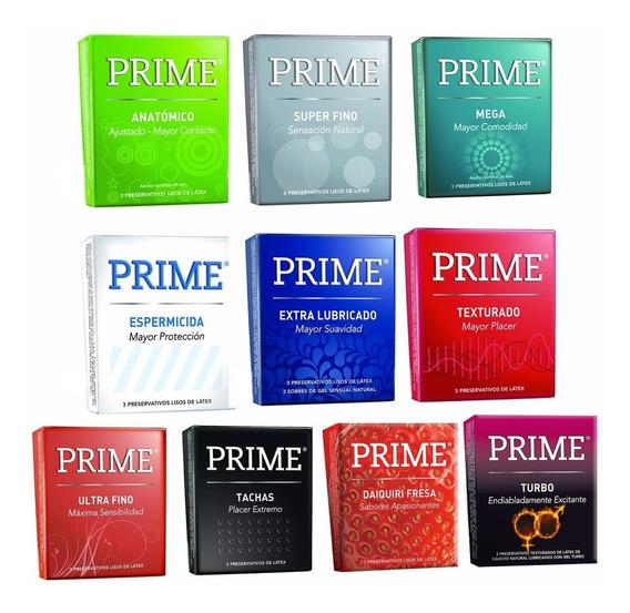 Preservativos Prime Mixtos Caja X72 Unidades Surtidos