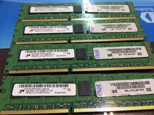 Memoria Ecc Ddr3 4gb Pc3-10600e Ibm System X 43x5293 92y0470