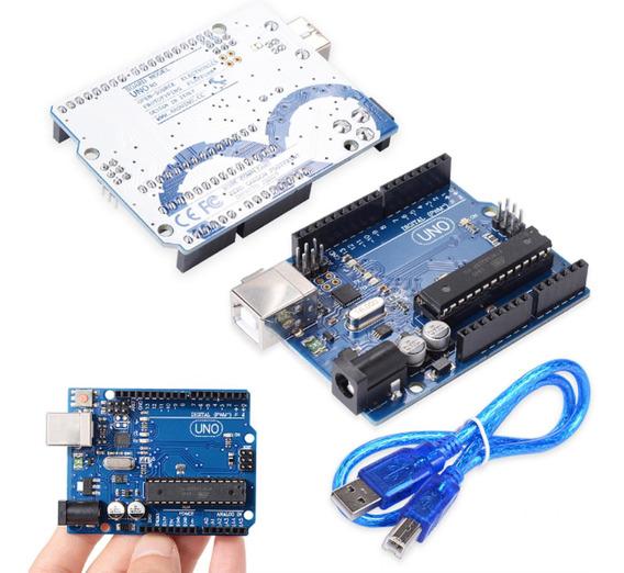 Arduino Uno R3 Con Cable Usb Y Chip Desmontable Atmel