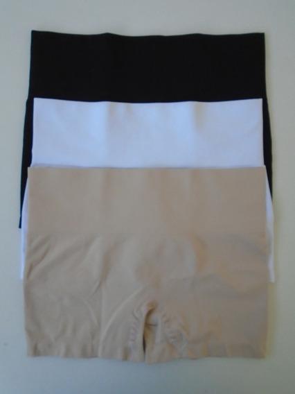 Cueca Boxer Feminina Sem Costura Média Compressão Kit Com 05