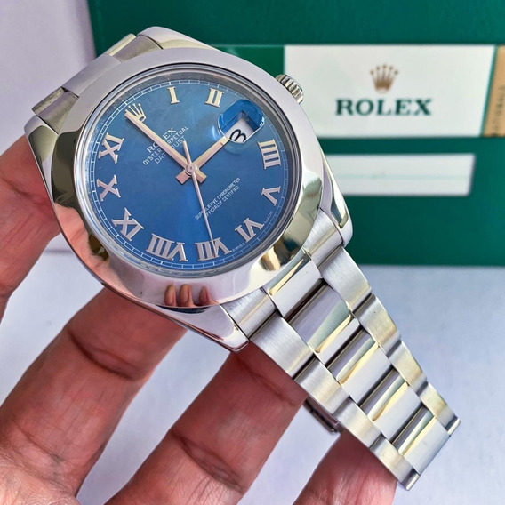 Rolex Datejust Ii Blue 41mm Completo