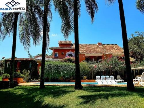 Imagem 1 de 30 de Chácara Com 5 Suítes E Piscina E Arquitetura Toscana - Ch00410 - 68303905