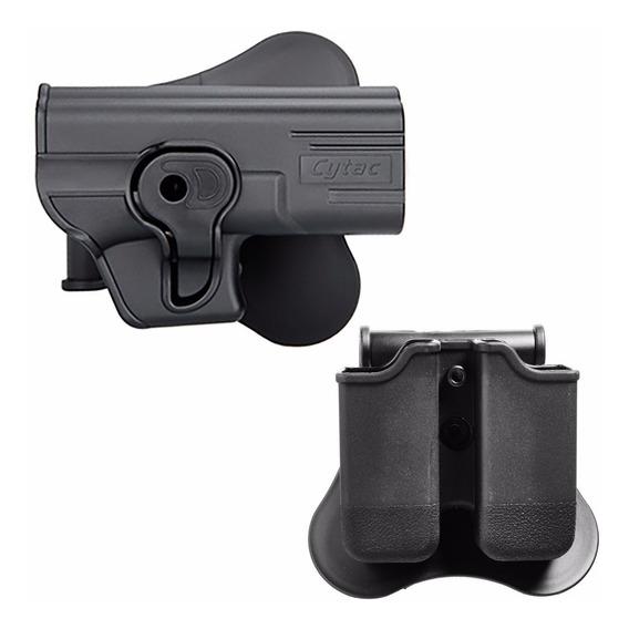 Kit Coldre Destro G25 G19 G23+ Porta Carregador Glock Cytac