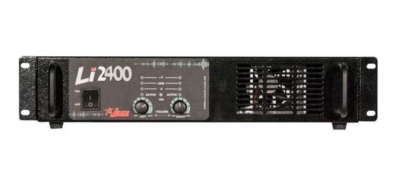 Amplificador Potência 600 Watts Leacs Li2400 Bivolt