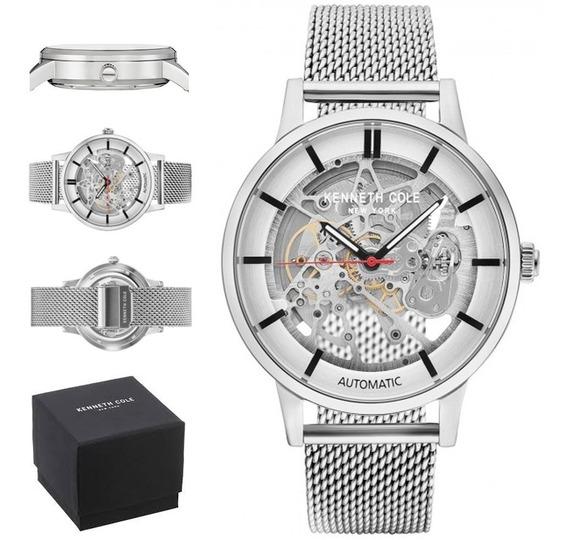 Reloj Kenneth Cole Hombre Automatico Kc50559010 Esqueleton
