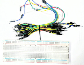 Kit Protoboard 830 Furos + Fios Jumper Varias Cores Tamanhos