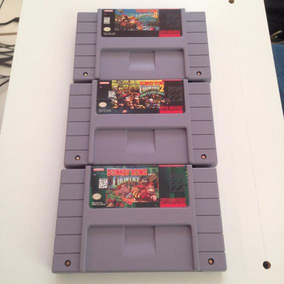 Trilogia Donkey Kong Country 1 2 3 - Super Nintendo - Snes