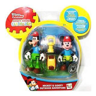 Mickey Goofy Camping X2 Muñecos + Accesorios Originales