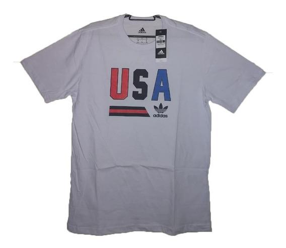 Camiseta Masculina adidas Usa