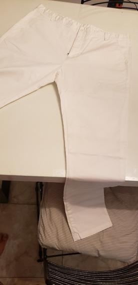 Pantalon Bensimon Hombre Blanco Gabardina