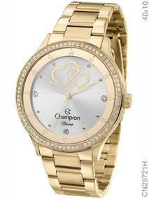 Relógio Champion Feminino Dourado Diva Cn29721h