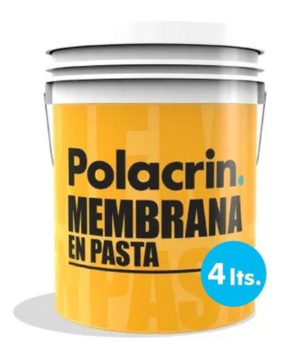Imagen 1 de 10 de Polacrin Membrana En Pasta Techos 4 Lt Blanca Impermeable