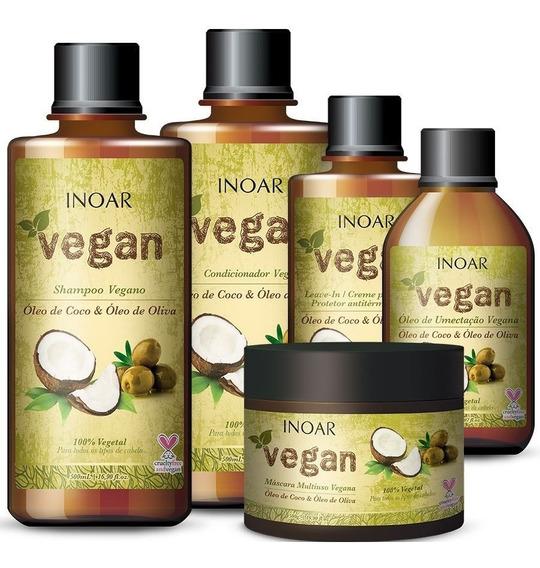 Kit De Tratamento Inoar Vegan 500ml (5 Produtos)