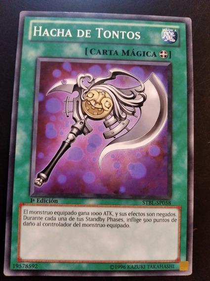 Carta Yugioh Hacha De Tontos Común Español 1 Edition