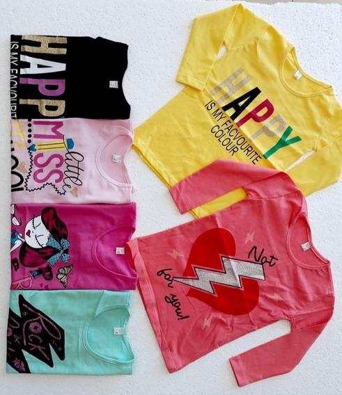 Pack X10 Unidades De Camiseta De Algodon De Nena Niña Xmayor