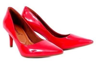 Sapato Feminino Bebecê Bico Fino Verniz