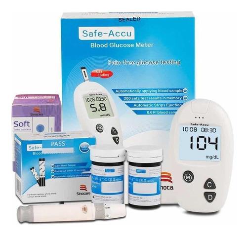 Glucometro Medidor De Glucosa 50 Tiras 50 Lancetas Pila Incl