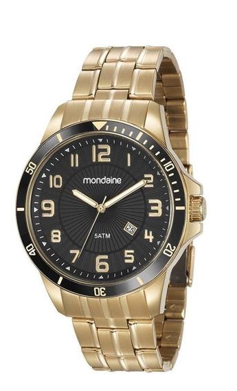 Relógio Masculino Dourado Mondaine 78758gpmvda2