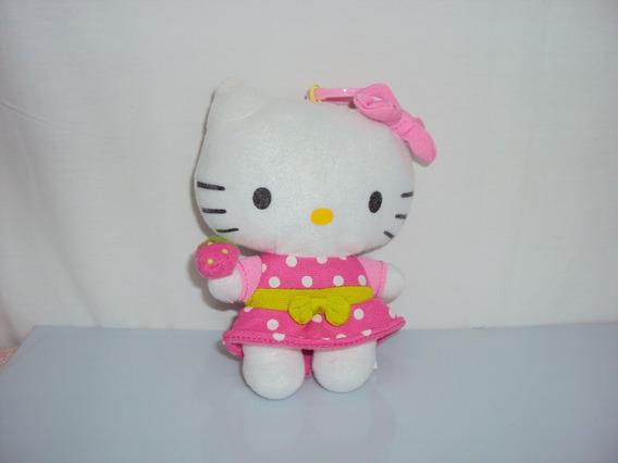 Pelucia Miniatura Hello Kitty Chaveiro Tamanho 14cm