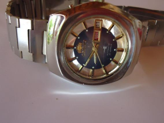 Patacão Relógio Orient Automático Raro Jato Coleção 27jewels