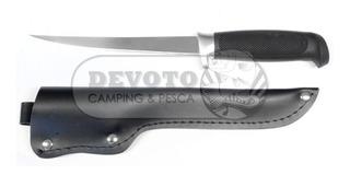 Cuchillo Pesca Para Filetear Hoja 16cm Funda Cuerina