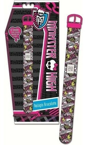 Relogio Digital Bracelete Infantil Monster High Rosa