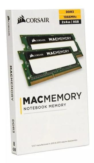 Kit Memória Corsair Mac 8gb (2x4gb) 1066mhz Mac Book E iMac