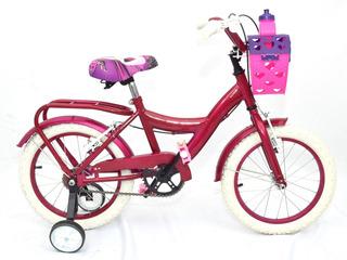 Bicicleta Nena Paseo Rodado 14 Caramañola Envio