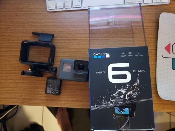 Gopro Hero 6 Black + Acessórios + Bateria Extra