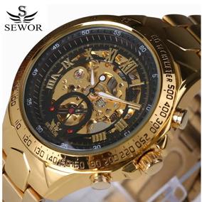 Relógio Masculino Original Automatico Barato Social Sport Fg