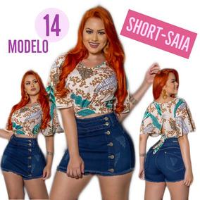 Shorts Shortinho Jeans Hot Pants Cintura Alta Look Divo 14