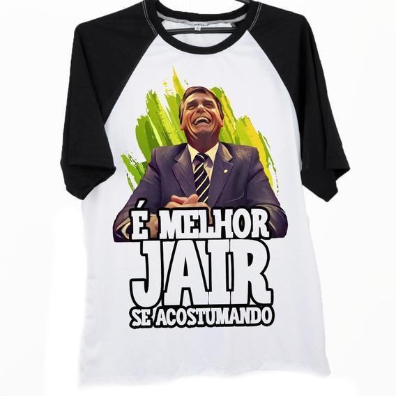 Blusa Camiseta Raglan Protesto Jair Bolsonaro Presidente