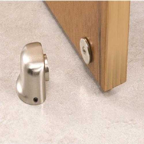 Imagem 1 de 6 de Fixador De Porta Magnético Alumínio Fp500 Vonder Trava