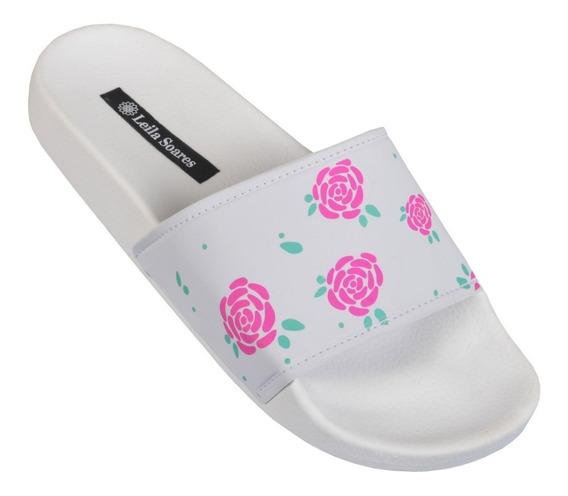 Chinelo Slide Feminino Moda Blogueiras Verão Promo Floral!