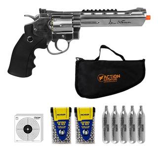 Revólver Pressão Co2 Asg Dan Wesson 6 Pol Metal Cromado 4.5