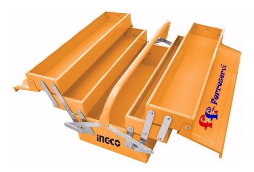 Caja Valija Herramientas Ingco Metalica Plegable 3 Niveles