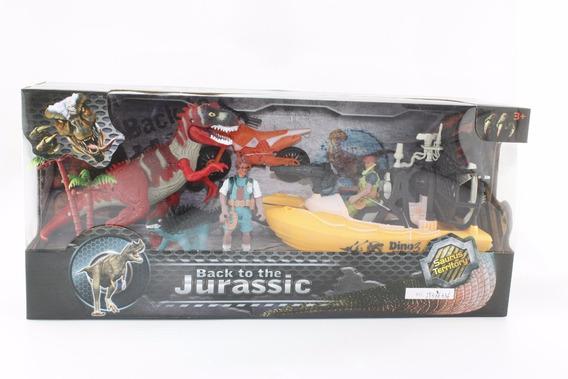 Dinosaurios 4 Figuras Play Set 4 Con Accesorios En Caja