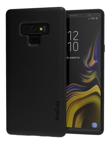 Forro Artscase Protección Doble Galaxy Note 9 Negro / Negro