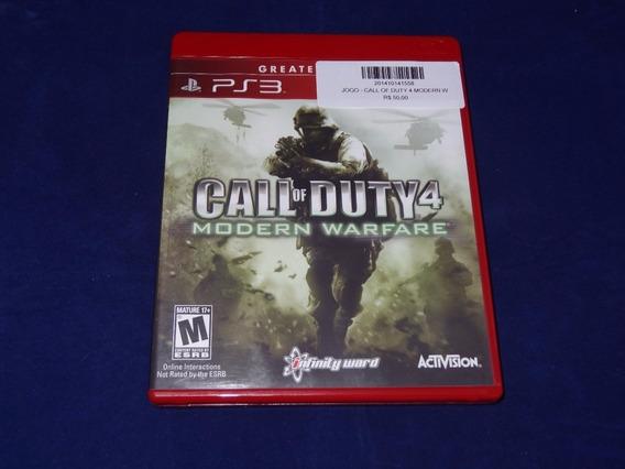 Jogo Ps3 - Call Of Duty 4 Modern Warfare