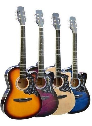 Imagen 1 de 1 de Guitarra Acústica Importada, Mastil Reforzado Y Acccesorios