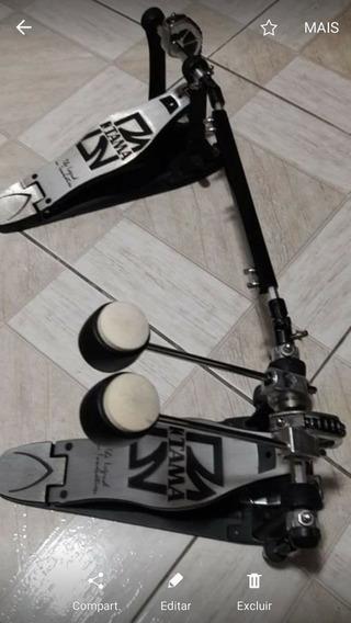 Pedal Duplo Tama Iron Cobra Hp300 Com Case Muito Novo