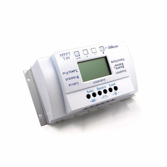 Controlador De Carga Solar 40a Mppt 12v 24v Envio Grátis