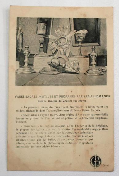 Antigua Postal Primera Guerra Mundial Profanacion Año 1917