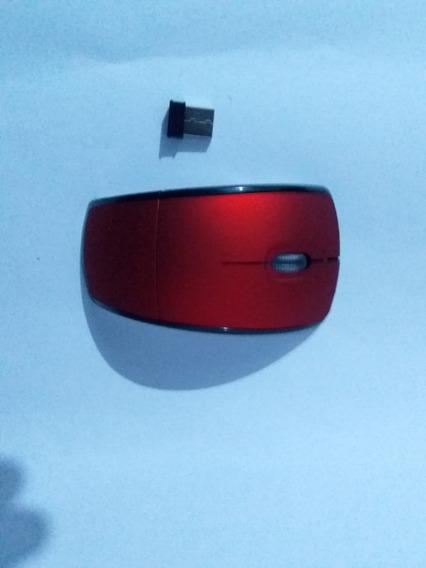 Mouse Sem Fio Fino E Dobrável Com Adaptador Wireless 2.4ghz