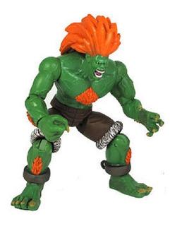 Muñeco Luchador Street Fighter Blanka Articulado Jazwares
