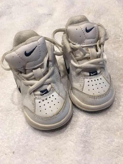 Excel. Zapatillas Cuero Nike Originales Talle 19,5 O 4c Blan