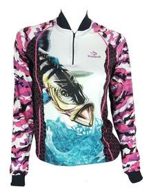 Camisa De Pesca Feminina Fps Uv50+ Kaa21 + Tube De Brinde